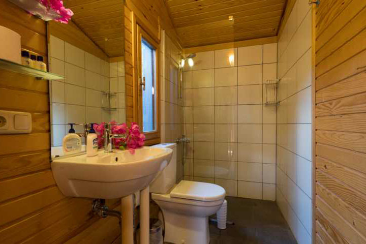 En-suite bungalow shower