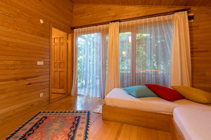 Sleeping room of an air-conditioned bungalow