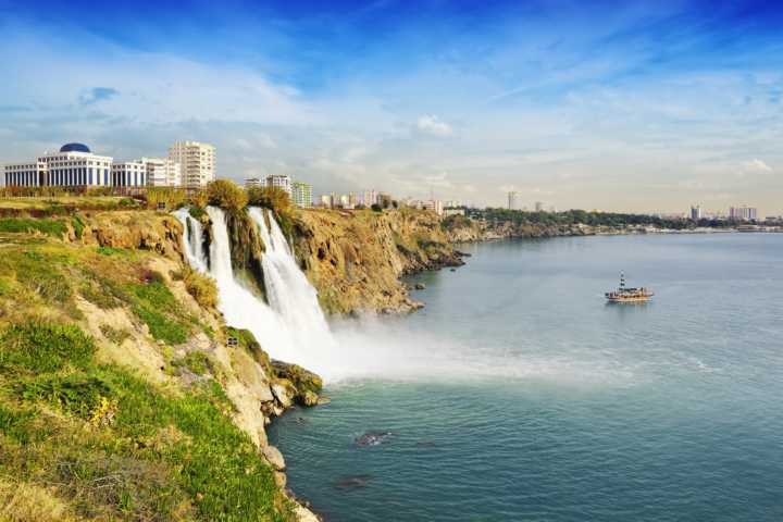 Düden waterfalls in Antalya city